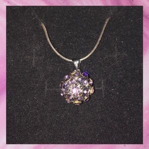 Gold Platted pink crystal necklace